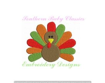 Turkey Thanksgiving Mini Design File Embroidery Machine Monogram Add On Instant Download