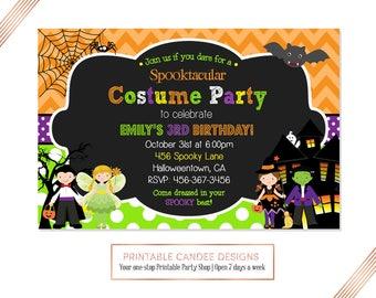 Halloween invite Etsy
