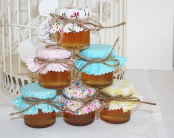 20 jam jar fabric cover DIY wedding favour kit Pastel Fabric
