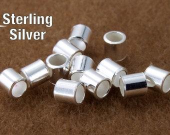 2mm Sterling Silver Tube Crimp #BSB047