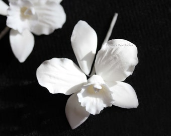 Cattleya Gum Paste Flowers - Wedding Cake Decoration