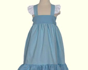Cinderella Blue Princess Dress with Flutters and Bow Tie Back - Baby Cinderella - Toddler Cinderella Dress -  Disney inspired Dress