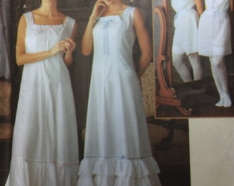 Vintage Closet Teresa Nordstrom Edwardian Victorian Underthings Undergarments Vintage Combination Nightgown Sewing Pattern 7157 6 8 10 12