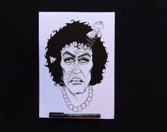 Frank N. Furter Art Print, Rocky Horror Picture Show, Tim Curry Portrait Sweet Transvestite Erotic Cult Classic Musical Theatre Spunk Valley