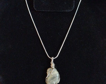 Wrapped Moonstone necklace