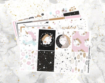REFORMATTED! Unicorn Dreams Weekly Kit for Erin Condren and Happy Planners (with optional Add On Sheet!)