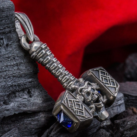 Thor S Hammer Viking Pendant Necklace Mjolnir