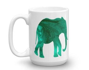 Elephant (Green) Mug