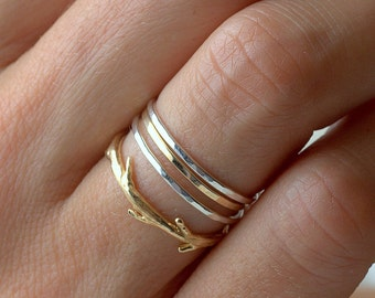 Single Gold-fill Thin Band | Stacking Ring | Mid Finger Ring