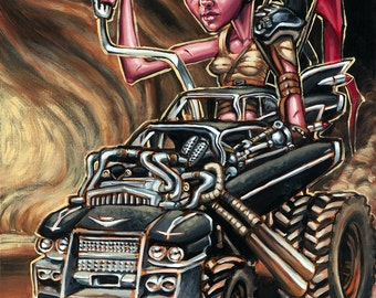 Furiosa and the Gigahorse Original Acrylic Painting