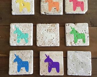 Unicorn Tumble Stone Coasters