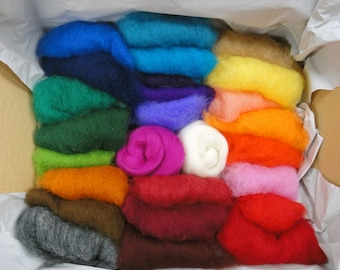 Fleece wool incl. 2 x Merino Wool - felting and crafting with felt wool