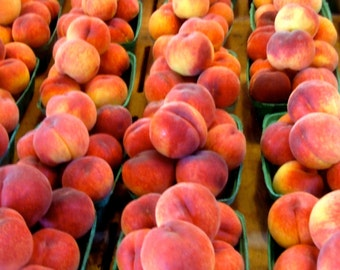 Ripe Peaches Farm Produce is the best, You can almost smell these as you look at them   5x5