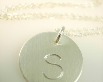 Personalized Silver Initial Necklace