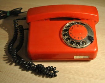 Vintage old disk rotary phone. Rotary Telephone