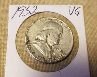 1952  Franklin 50 cent Half Dollar  coin Very good condition
