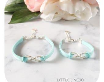 Mother & Daughter infinity bracelet