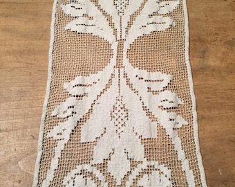 Old lace table runner