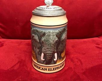 Budweiser Endangered Species Stein 1990 #12513