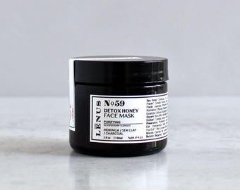 Nọ 59, HONEY CHARCOAL MASK, Honey Mask, Acne Cleansing Mask, Charcoal Mask, Mud Mask, Dead Sea Clay Mask, Sensitive Skin Mask
