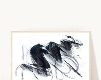 Minimalist Art, Abstract Art Print, Giclee Print, Black and White Art,  Modern Wall Art, Large Wall Print, Wall Decor, Black Abstract