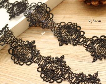Black Lace Trim 4.3cm width