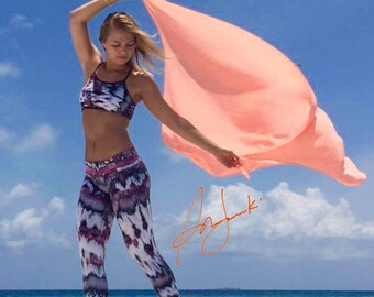 Womens Yoga Pants, Leggings, Stretch, Exercise Pant, Fold Over Straight Leg Tights, Gym Pants, Workout Pants, Black Leggings, Tie Dye