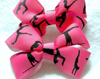 Girly Gymnast Bow Set