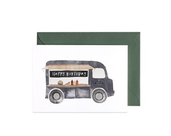 Food Truck Illustrated Greeting Card