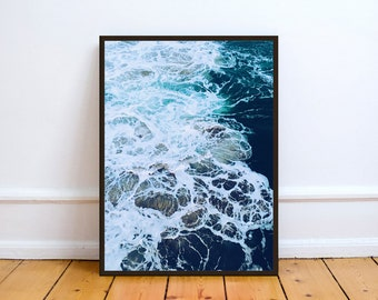 Ocean Art,Photo,Digital,Download,Decor,Home,Office,Tropical,,Turquoise,Ocean,Gift,Baby Shower,Gift,Coast,Coastal
