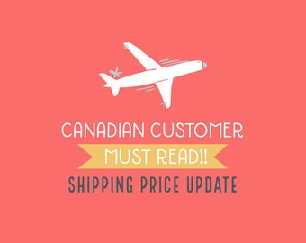 Canadian customer - Shipping price update
