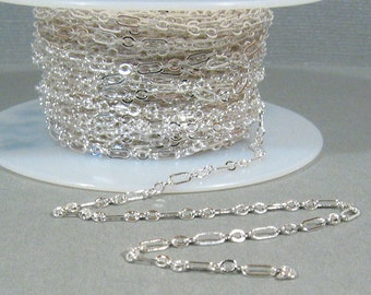 Fine Figaro Chain - Silver Plated - CH25 - Choose Your Length