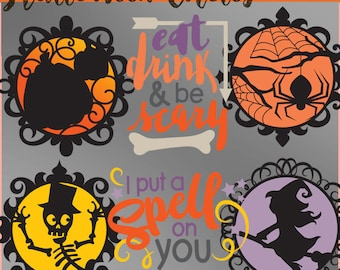 Eat, Drink, and be Scary Clipart -Personal and Limited Commercial Use- Cute Halloween Clip Art and Word Art