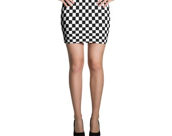 Checker Mini Skirt, Burning Man, Festival Clothing, Rave Outfit, Festival Fashion, Festival Outfit, Checker Print Skirt,