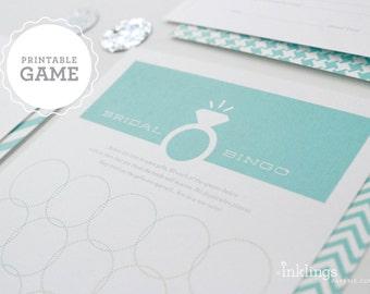 Printable Bridal Bingo - Choose your color // Bridal Shower Game, Party Game, Bridal Shower Activity, Bachelorette Party Game