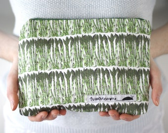 Quirky handmade asparagus pouch, coin purse