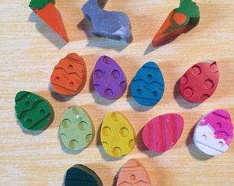 Easter Crayons Bunny Carrot Eggs Set of 8