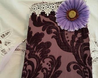 Purple Damask Junk Journal, Scrapbook, Mixed Media, Scrapbook, Smashbook, Art Journal