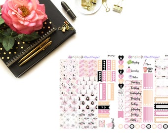 Friday Girl// MINI HP Weekly Kit// 2 sheets of planner stickers