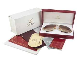 Cartier Santos Sunglasses With Original Cases And Papers