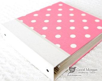 Toddler Memory Book  - Soft Pink Dolka Dottted