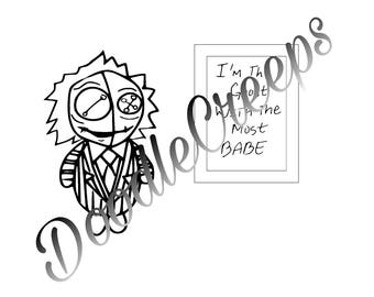 Beetlejuice Voodoo Doll Digital Stamp