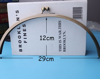 11''1/2 Purse Frame Bag Frame Handbag Frame  antique bronze large curved purse frame kiss clasp 29*12cm