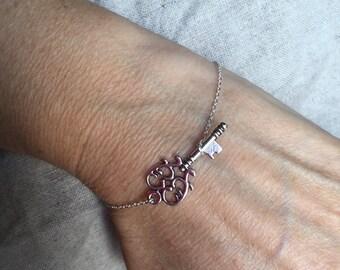 Steampunk Skeleton Key Bracelet, key bracelet, bridal gift