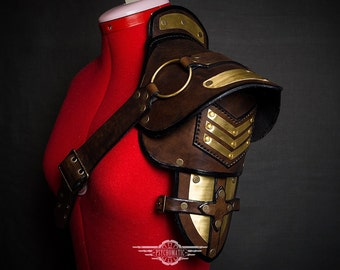 Steampunk military shoulder pad