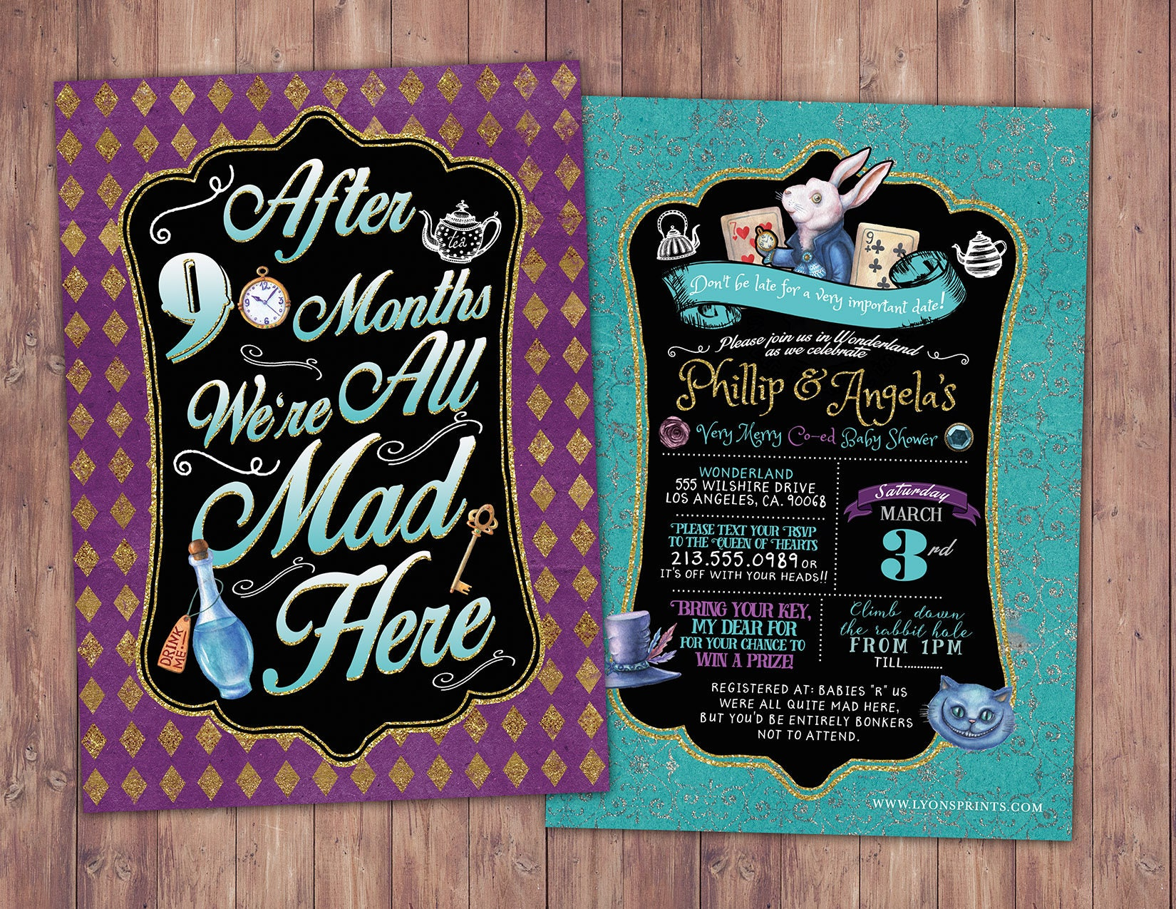 Mad Hatter Tea Party, Alice in Wonderland Invitation / First ...