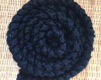 SALE! Scarf Soft Black Boho Chic Tumblr Indie Scarf Lace Under 50 by Wave of Life