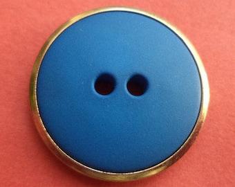 10 buttons blue gold 23mm (5954) button