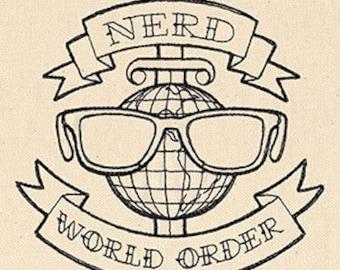 Nerd World Order Kitchen Towel