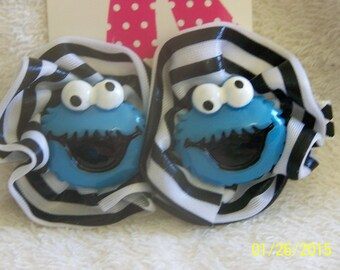 Cookie Monster hair clips. If your child loves Cookie Monster, they will love these clips!